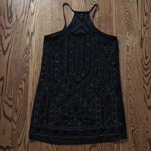 Mini black beaded forever 21 dress.